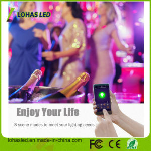 Mehrfarbige RGB WiFi intelligente LED Birne der Feiertags-Beleuchtung-LED der Birnen-E27/B22 9W für Weihnachtstag