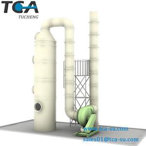 酸霧のガス吸収スクラバーかタワー