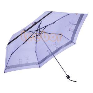 3人の折る鉛筆小型旅行女性一義的な傘