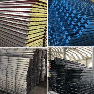 La estructura de acero de construcción de paneles sándwich galpón Industrial de la casa de aves de corral de la casa prefabricados