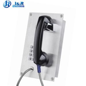 Montagem embutida do telefone de emergência à prova de intempéries para o Banco Jr208-FK