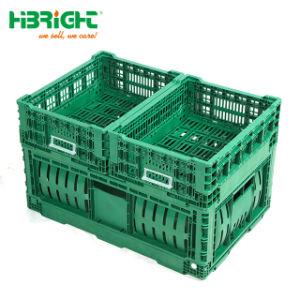 Heavy Duty grand PEHD Pliage pliable Fruits Légumes caisse plastique pliante empilable