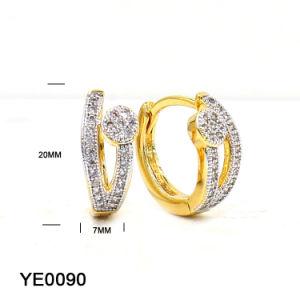 Spätestes Art-heißes Verkaufs-Goldkleiner Ohrring für Frauen-Messing-Ohrringe