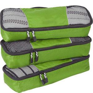 3PC Cubos de embalaje de viaje equipaje una maleta de viaje Set de compresión de la bolsa del organizador
