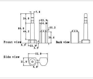 Ds-1105b 15kn conteneur de 8 mm vis Joints Joints de sécurité