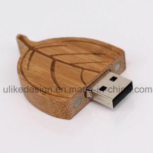 カスタマイズされるを用いる木の葉形USBのフラッシュディスク