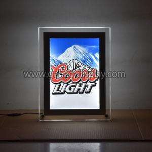 Nuevo diseño de tablero acrílico sin cerco Caja de luz LED