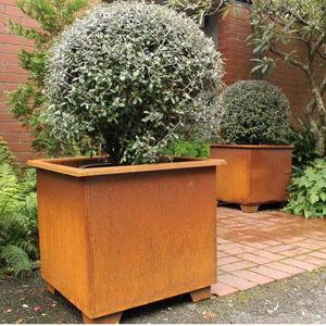 FO-9c10 Pot van uitstekende kwaliteit van de Staalfabriek Corten van de Tuin de Decoratieve