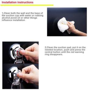 Weißer Plastikabsaugung-Becherhalter für Küche-Badezimmer-Schlafzimmer-Robe-Haken mit 2 Haken
