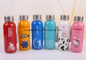 Drucken-Glaswasser-Flasche der Saft-Flaschen-300ml mit rostfreier Schutzkappe