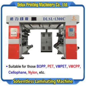 350m/Min 의 고속은 전산화했다 필름, Vm 필름, 셀로판, 나일론 (DLSL-1300C)를 위한 자동적인 Solventless 박판으로 만드는 기계를