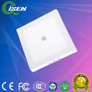 12W Luz do painel do detector de movimento por infravermelhos para iluminação interior