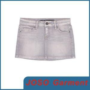 灰色の洗浄女性のジーンズのスカート(JC2012)
