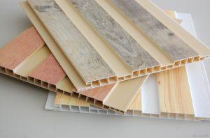 Colore di legno che lamina la decorazione interna della Camera di comitati del soffitto del PVC (RN-147)