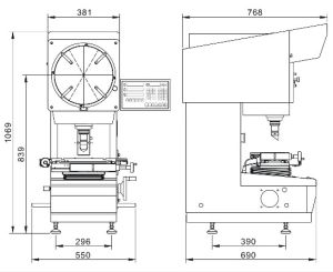 Proyector de perfiles para el contorno de la inspección de los COV (1505)