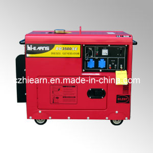 3kwおおいの赤いカラー(DG3500SE)のディーゼル発電機セット
