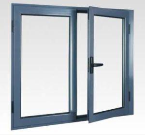 Singola finestra di alluminio della stoffa per tendine di vetratura doppia della lastra di vetro