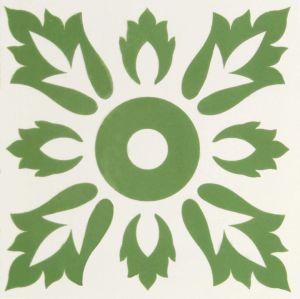 Groen Mediterraan Stijl Verglaasd Porselein Tile20*20cm