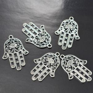 DIYのブレスレットのネックレスのアクセサリのHamsa手の悪のまなざしのペンダント