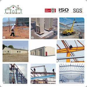 Gran estructura de acero de construcción prefabricados con grúa como taller y fábrica/Almacén