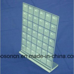 Basamento acrilico chiudente di plastica di Pegboard con la modifica dell'amo