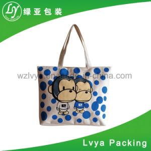 Promoción de almacenamiento de alta calidad gran lienzo de algodón personalizadas de diseño clásico Shopper Bolsa con Tote