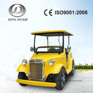 4 Sitzelektrische Golf-Karren-klassische Karren-Weinlese-Karre