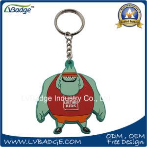 주문을 받아서 만들어진 연약한 고무 3D 승진 PVC 열쇠 고리