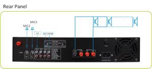 Hot vender amplificador de potencia del sistema de megafonía con material de aluminio