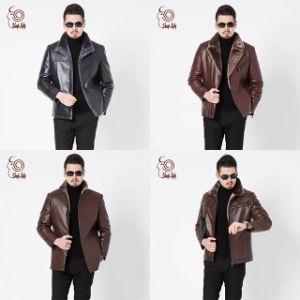 Nueva moda de hombre ropa de cuero de oveja genuina