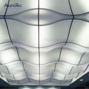Panneaux de plafond ondulés suspendus par aluminium pour la salle de réunion
