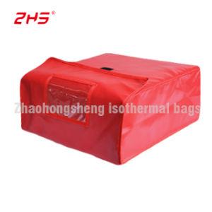 PVC Isolation fourre-tout transporteur de Pizza thermique du refroidisseur de livraison de nourriture Sacs avec oeillets