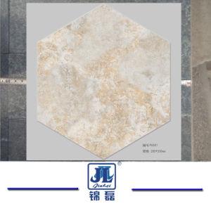 Acristalamiento Mosaico Hexagonal Gris Madera R Stico