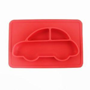 Silicone plaque alimentaire pour enfants en forme de voiture