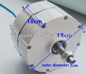 gerador de ímã permanente de 500W 12V/24V baixo RPM Pmg