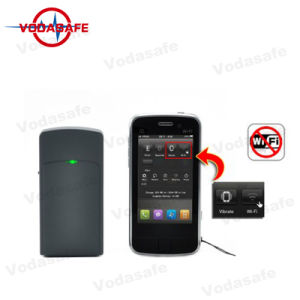 Wifi/Bluetooth de hasta 10 metros (30 pies) de hasta 2 horas de uso continuo de la carga completa, alta calidad de señal Jamming Blocker, bloquear la cámara espía