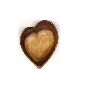 山の森の職人のアカシアの木製のハート形ボール