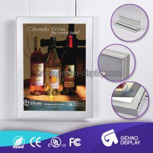 LEIDENE van de Vertoning van het Frame van Aliuminum van de Reclame van de alcoholische drank Signage Raad
