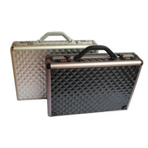 Alumínio moda Hard Shell bloqueio seguro Negros Vendedor Advogado na maleta.