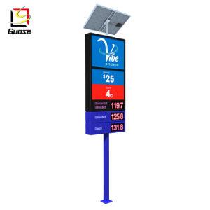 Prefabricados de acero de la luz de la estación de Gas equipos para la Gasolinera Grabado de los letreros de señalización de Pylon Maker