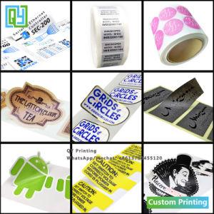 Impressão personalizada de plástico autocolante PVC Logotipo Papel vaso de Barras Vial e auto-adesivo a impressão de etiquetas