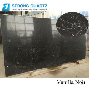 Matériau de construction de granit noir / /naturel en marbre ressemble avec veines / artificielle Engineered / Salle de bains de dalles de pierres de quartz