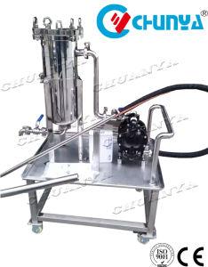Bolsa de acero inoxidable industrial de la caja del filtro con la bomba de agua