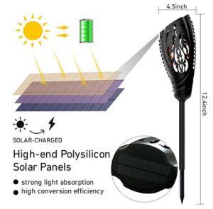 Venta caliente Energía Solar de baile al aire libre Jardín de luz LED de la llama de fuego de la luz de la luz solar