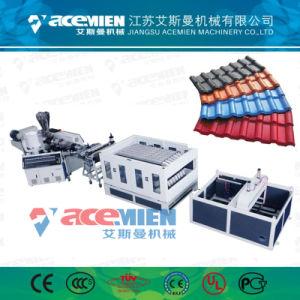 El PVC+ASA de doble tornillo Teja que hace la máquina