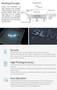Mayorista Wiiboox formando varios materiales de metal de la tecnología láser impresora 3D.