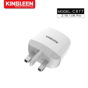 Adattatore di spina BRITANNICO della parete del USB del caricatore 10W di potere dell'adattatore del caricatore portatile universale domestico di corsa per il telefono mobile