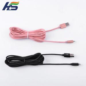Розовый нейлоновые зарядное устройство USB высшего качества кабель передачи данных для iPhone 7