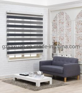 L'ombre Zebra triple isolation thermique double couche double couche d'interdiction pure stores à rouleau