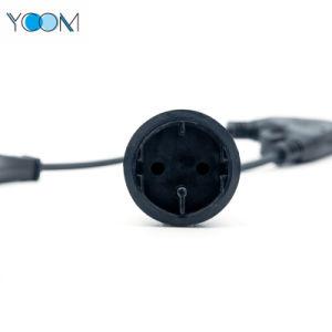 Ycomの高品質の電源コードのブラックパワーケーブル